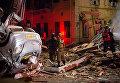 Взрыв и пожар в Яффо