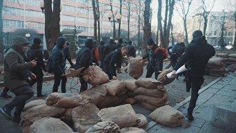 В Харькове активисты Нацкорпуса разгромили съемочную площадку сериала о Второй мировой войне