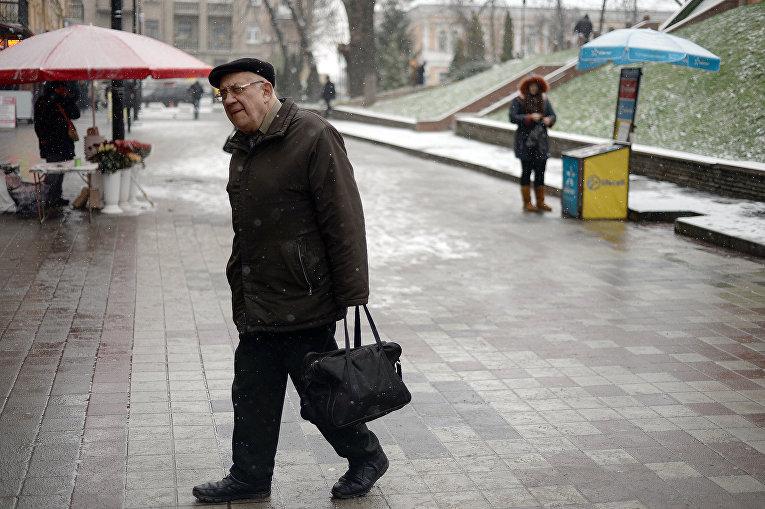 Гололед в Киеве