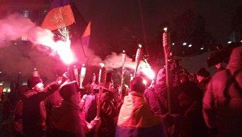 Стычки полиции и активистов в Киеве