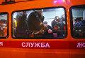Прорыв трубы в Москве. Архивное фото