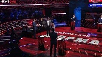 Скандал в прямом эфире из-за Евромайдана. Видео