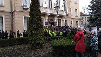 Митинг женщин под мэрией Тернополя