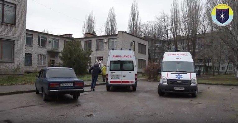На месте взрыва в суде в Никополе Днепропетровской области