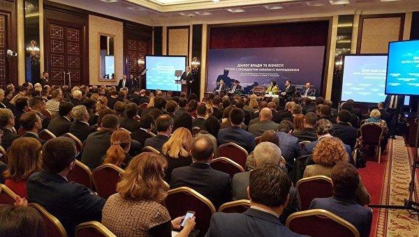 Петр Порошенко на встрече с бизнесом