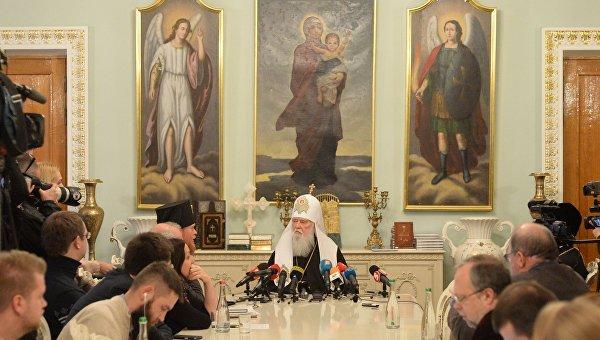 Пресс-конференция предстоятеля УПЦ КП Филарета