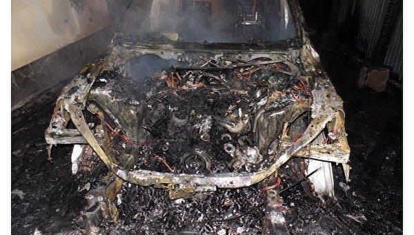 В Ровно сожгли внедорожник Audi Q7