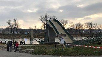 В Праге рухнул мост