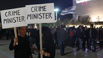 Израильтяне вышли на марш против коррупции. Видео