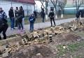 В Одессе снова вспыхнул конфликт вокруг школьного забора. Видео