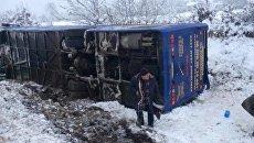 Автобус перевернулся в Львовской области. Архивное фото