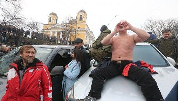 Как освобождали Саакашвили— столкновения вцентре столицы Украины