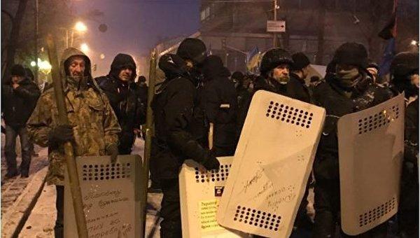 Cитуация под Радой утром 6 декабря 2017, где находятся сторонники Саакашвили