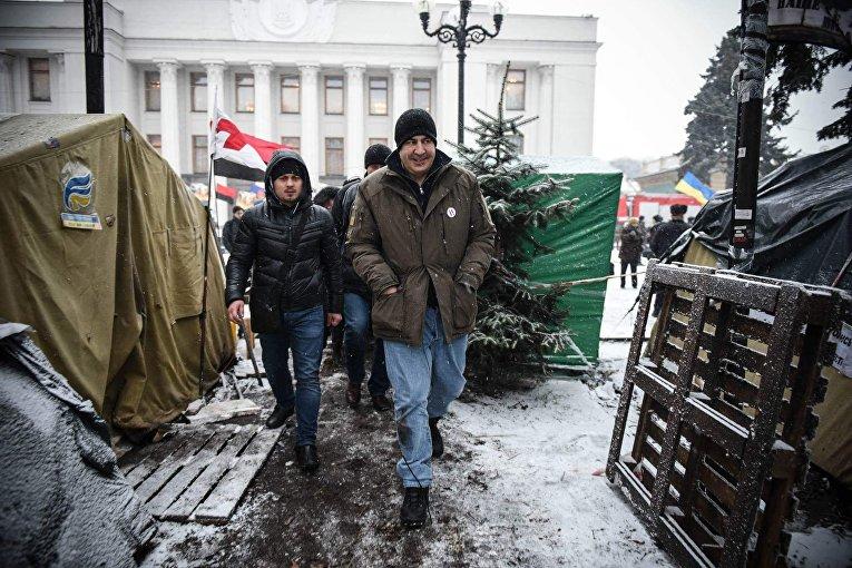 Михаил Саакашвили. Ситуация возле Верховной Рады после утренних столкновений, 6 декабря 2017