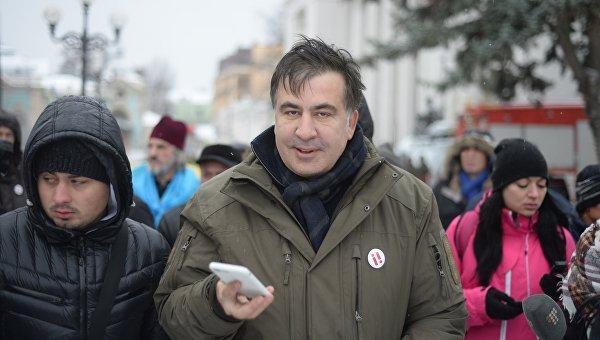 Михаил Саакашвили возле Верховной Рады, 6 декабря 2017. Архивное фото