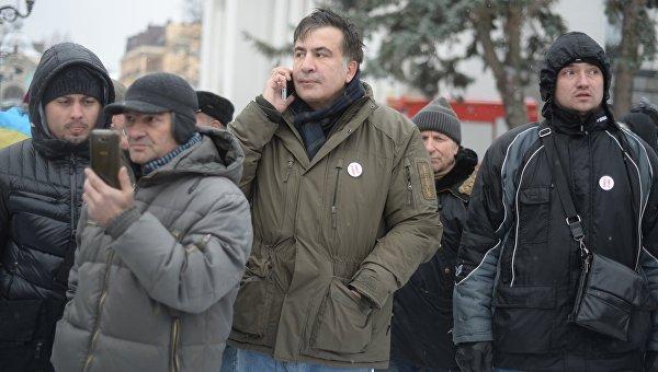 Михаил Саакашвили возле Верховной Рады, 6 декабря 2017