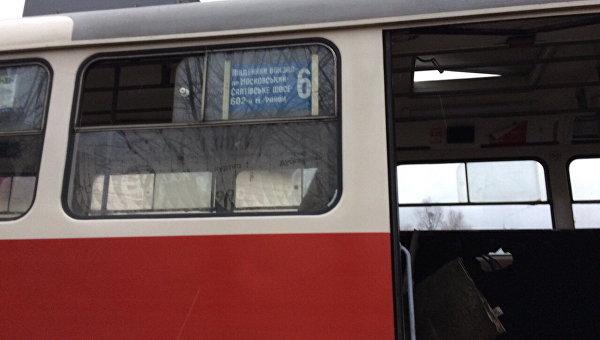ВХарькове наСалтовке зажегся  трамвай