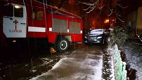 На месте взрыва авто в Харькове