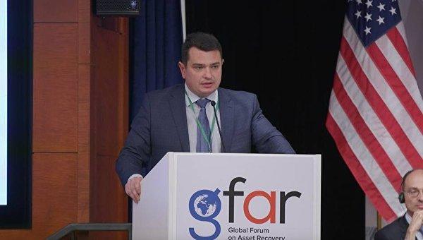 Директор НАБУ Артем Сытник на закрытии Глобального форума по возврату активов в Вашингтоне