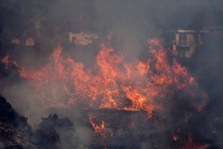 Лесные пожары на юге Калифорнии