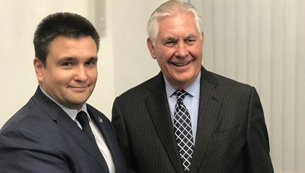 Павел Климкин и Рекс Тиллерсон в Вене