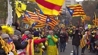 Десятки тысяч каталонцев протестовали в Брюсселе