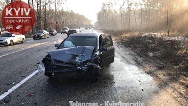 Авария на Новоирпенской трассе под Киевом
