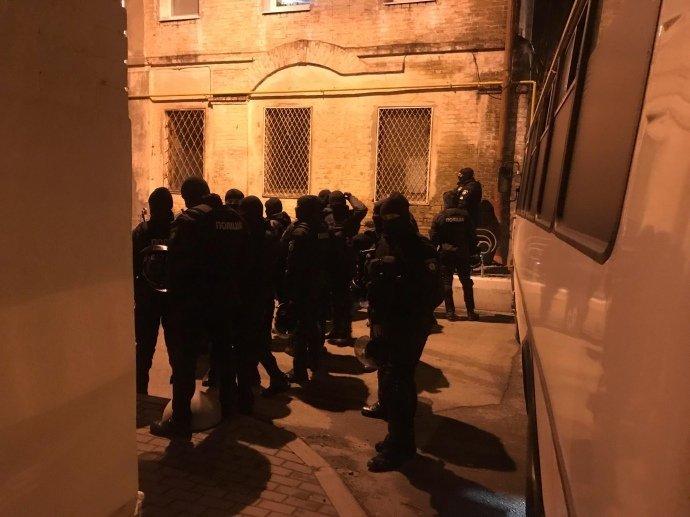 Во время задержания Саакашвили правоохранителями /