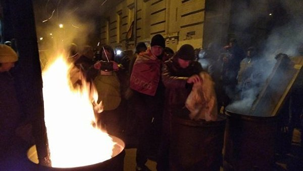 Ситуация возле изолятора СБУ где держат Саакашвили