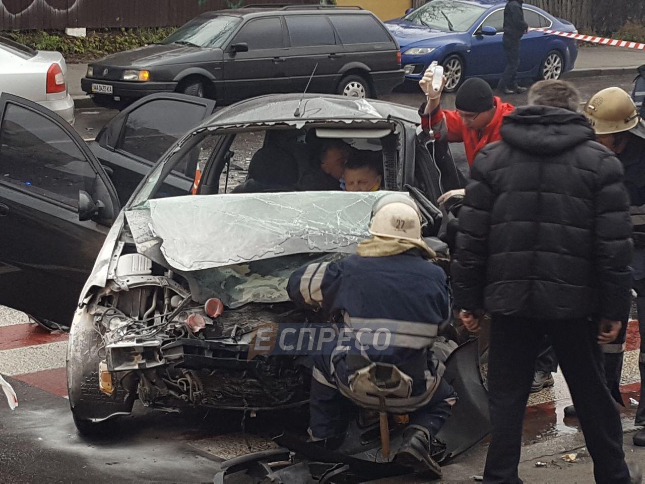 ВКиеве нетрезвый шофёр совершил серьезное ДТП