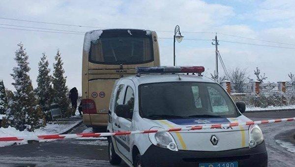 На месте инцидента с польским автобусом