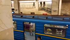 Голый мужчина в метро Киева