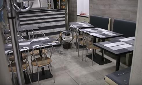 Взрывоопасный Днепр. В кафе бросили гранату. Видео