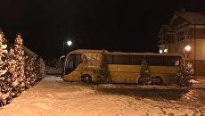 На месте подрыва польского автобуса