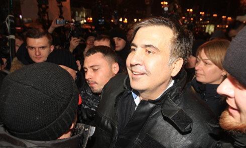 Экс-президент Грузии, бывший губернатор Одесской области Михаил Саакашвили и его сторонники