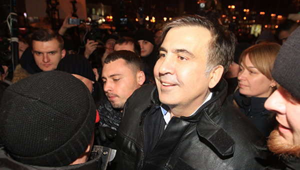 Экс-президент Грузии, бывший губернатору Одесской области Михаил Саакашвили и его сторонники