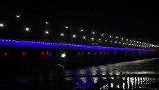Запуск подсветки Кайдацкого моста в Днепре. Видео