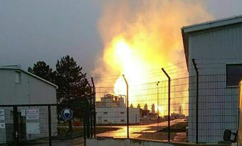 На месте взрыва на газопроводе в Австрии, 12 декабря 2017