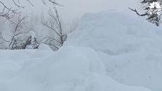 Рекордный снегопад на Аляске