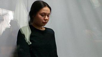 Елена Зайцева во время  заседания суда