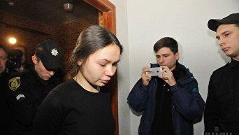 Заседание суда по пересмотру меры пресечения подозреваемой в аварии Елене Зайцевой в Харькове