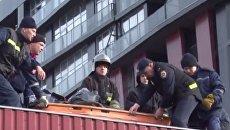 Падение мужчины с пожарной лестницы во Львове