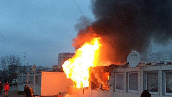 На месте пожара в Днепропетровской области