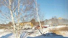 Крушение вертолета в Канаде. Видео