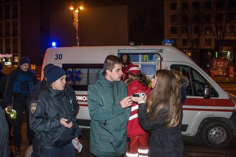 В центре Киева работники ресторана жестоко избили своих же клиентов
