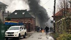 В Киеве под домом экс-министра Ставицкого подожгли шины