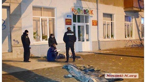 На месте гибели военного в Николаеве