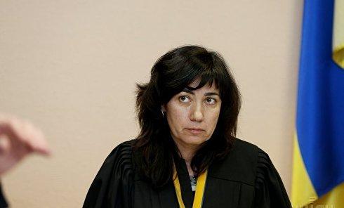 Судья Лариса Цокол во время судебного заседания по избранию меры пресечения Михаилу Саакашвили