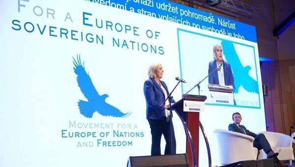 Лидер политической партии Франции Национальный фронт Марин Ле Пен