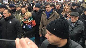 Михаил Саакашвили на марше